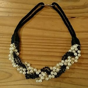 Jewelry - Beaded necklace, rope, seriously large piece!